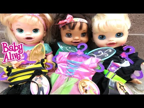 BABY ALIVE Help Pick Out HALLOWEEN Costumes For The Baby Alive Dolls!