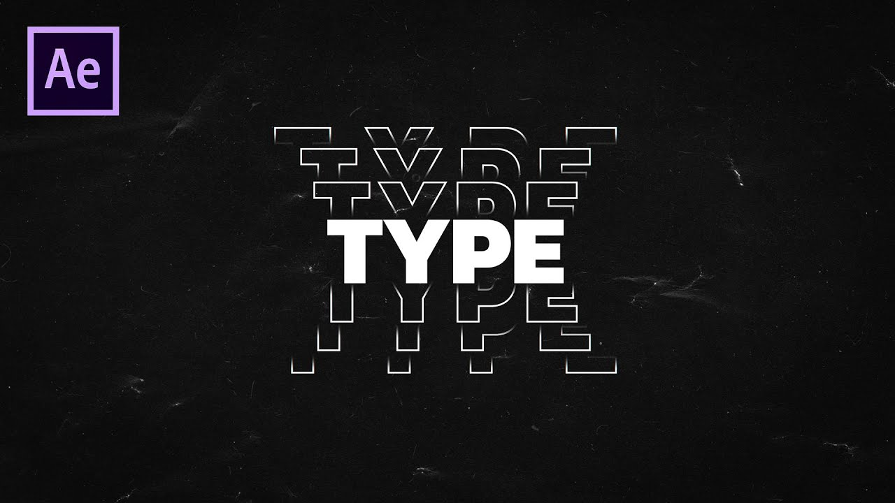 Typography Text Animation in After Effects