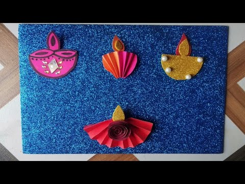 Diwali craft ideas//Paper diya//Diwali decoration ideas