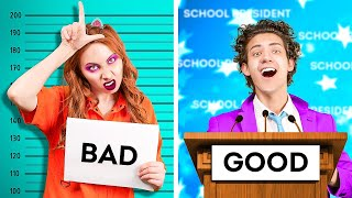 GOOD vs BAD STUDENT || Genius Hacks for LAZY People || Funny Sibling Struggles by La La Life Musical