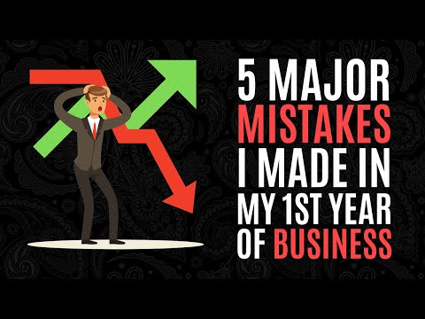 5 Major Mistakes I Made in My 1st Year of Business thumbnail
