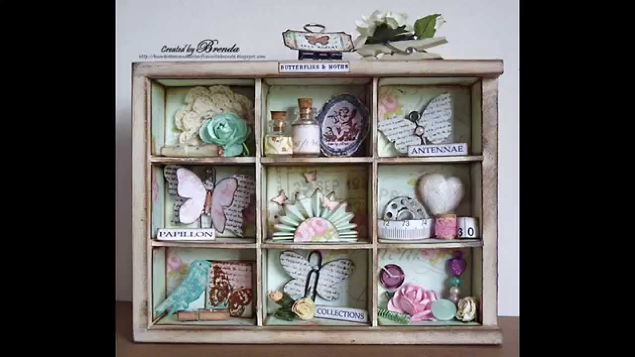 Easy DIY Shabby chic style crafts - YouTube