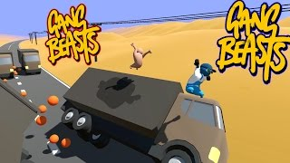 Gang Beasts - Road Kill [Father and Son Gameplay]