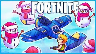 *NEW* SNOWMAN PLANE TROLLING in Fortnite: Battle Royale! (Fortnite Funny Moments & Fails)