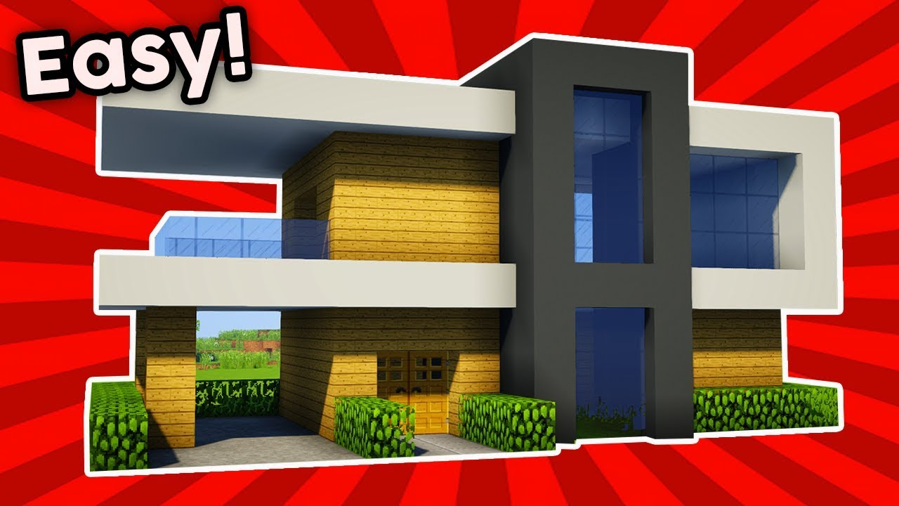 Minecraft How To Build A Easy Small Modern House 10 Pc Xboxone Ps4 Pe Xbox360 Ps3 Youtube