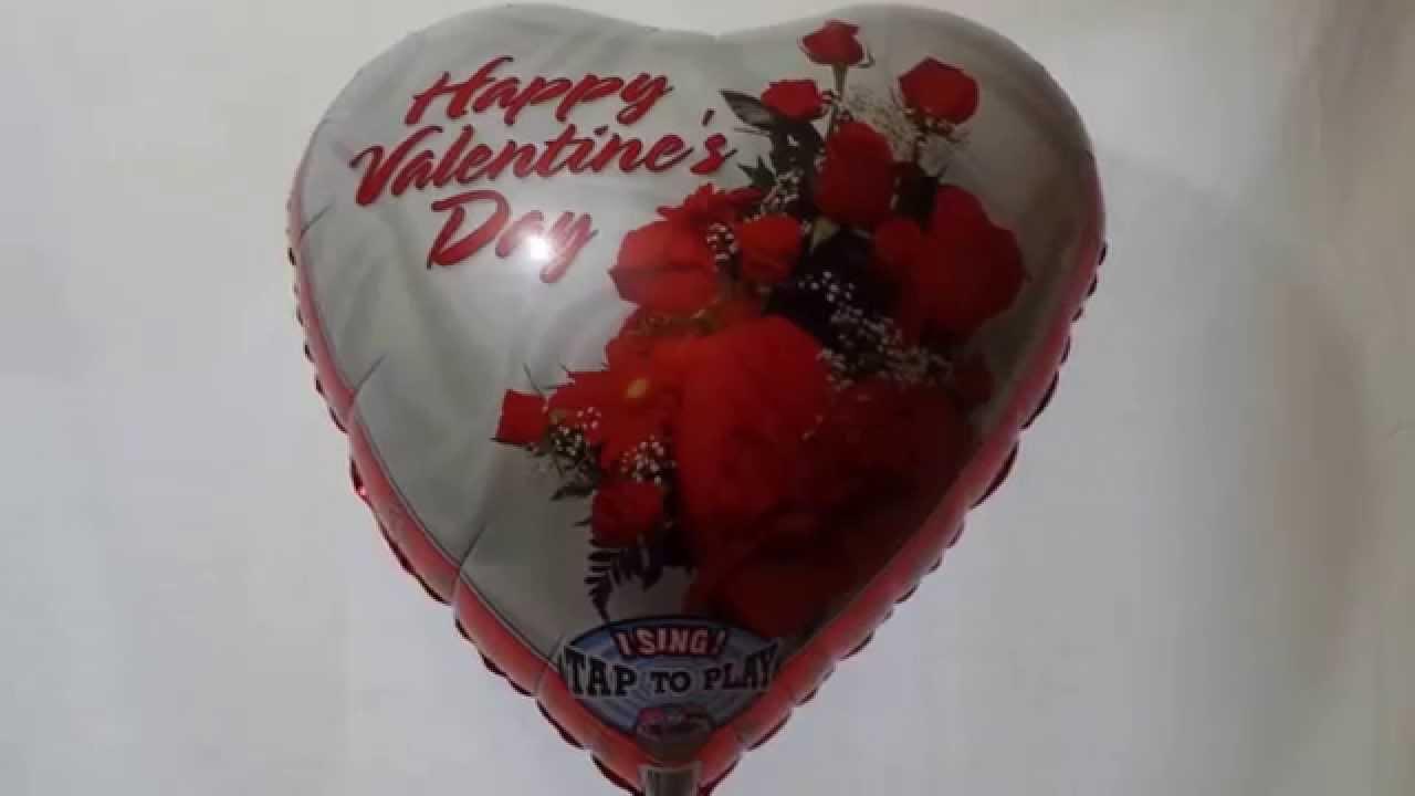 Happy Valentine S Day Singing Balloon Youtube