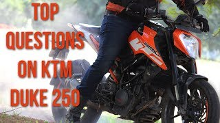Top questions on KTM Duke 250 Answered