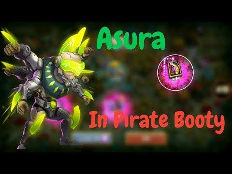 Asura In Pirate Booty L Rolling 15k Gems L Castle Clash