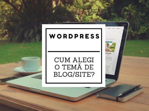 Cum alegi o temă de WordPress? (2015.02.18)