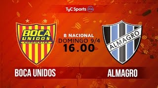 Boca Unidos vs Almagro full match