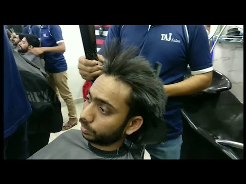 permanent hair   straightening   in salon   indian style
