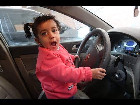 #مريم ساقت السيارة ورحنا البحر!!