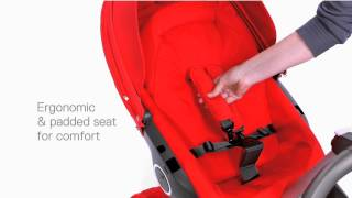 Stokke Xplory Stroller Demo(Stokke Xplory the ultimate connection stroller is a from birth solution with a unique height advantage to promote all important eye contact with baby. Stokke ..., 2012-10-15T18:25:32.000Z)