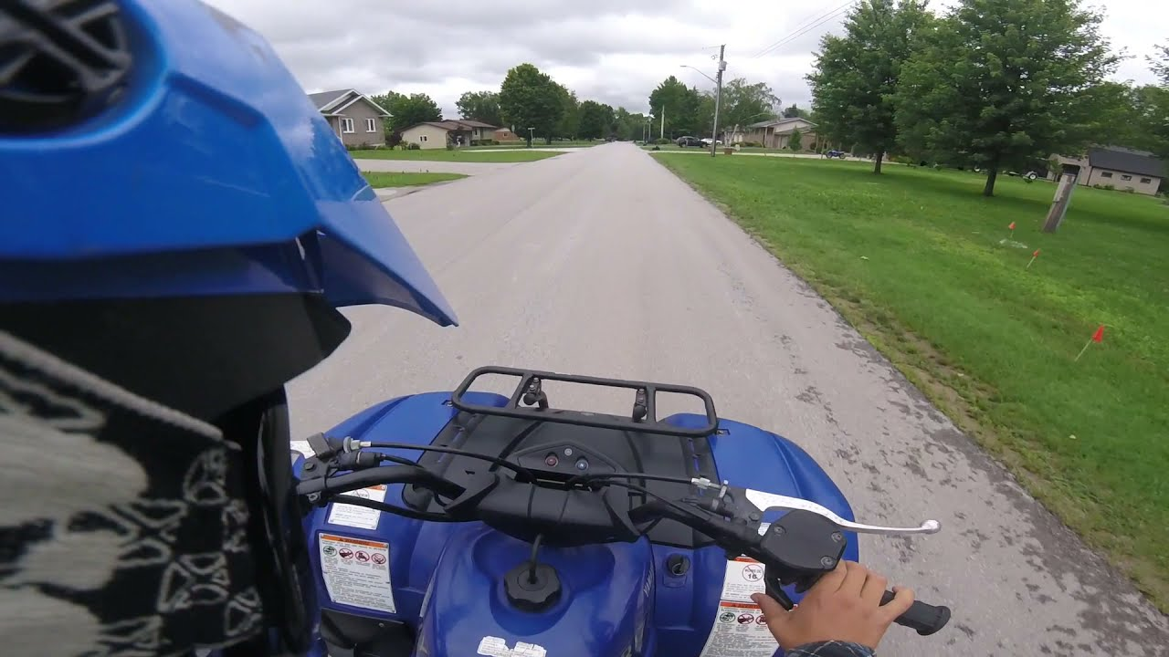 Yamaha Grizzly 125 - TEST DRIVE - GoPro