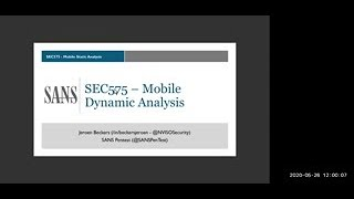 Mobile Application Dynamic Analysis