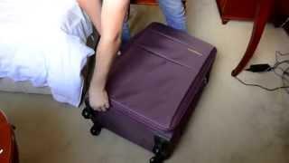 Посылка с Таобао 6. Распаковка дорожного чемодана(Дорожный чемодан на колесах за 206 юаней Ссылка на продавца: http://mywen.taobao.com/?spm=2013.1.1000126.4.5dpNYF., 2014-10-21T16:53:54.000Z)