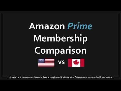 Amazon Prime US vs Canada Comparison