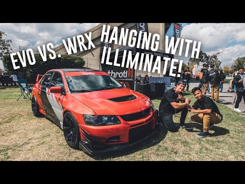 MY EVO 8 VS WRX CAR SHOW REV BATTLE!