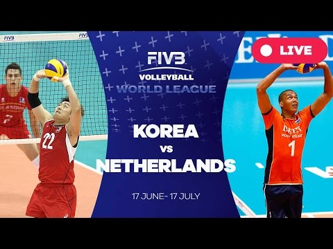 Korea v Netherlands - Group 2: 2016 FIVB Volleyball World League