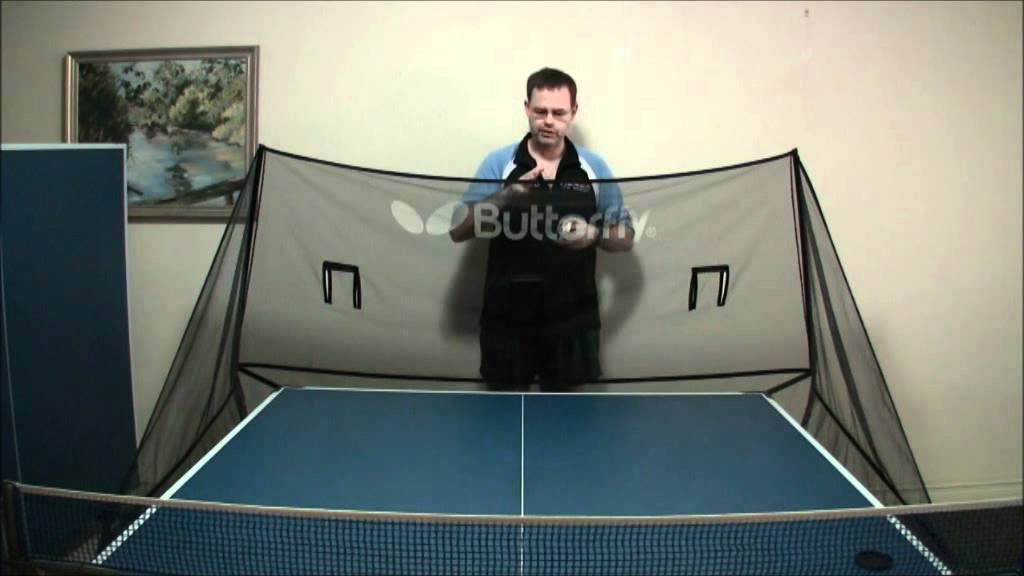 Butterfly Catch Net For Table Tennis Robots Youtube