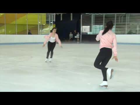 raina and samantha ice skating competition sky rink june 2018
