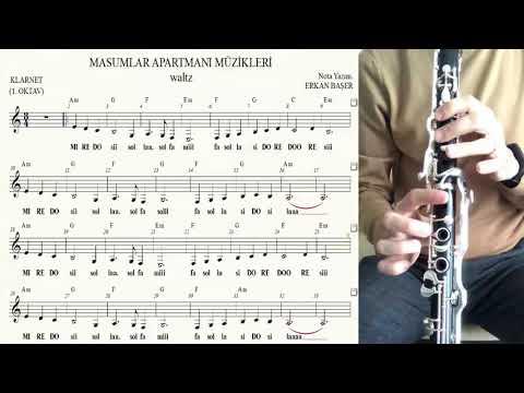 MASUMLAR APARTMANI müzikleri waltz KLARNET notaları EŞLİKLİ altyapılı YAKIN ÇEKİM indir