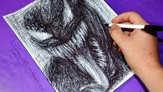 Scribbling Venom / Ballpoint Pen Drawing / Speed Art / Cool Scribble Technique