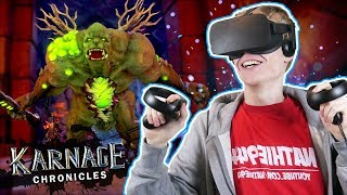 VR RPG DUNGEON CRAWLER! | Karnage Chronicles (Oculus Rift + Touch Gameplay)