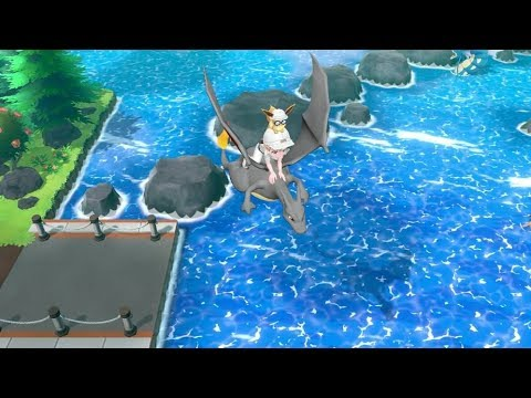 ALL SHINY Riding Pokemon Let's Go Pikachu Eevee