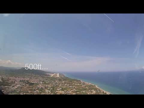 Landing at Rhodes Int'l Airport (RHO) Greece - (Cockpit View)