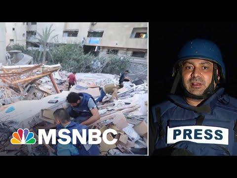 Journalists Rushed To Save Equipment Ahead Of Israeli Airstrike