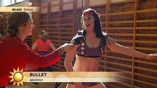 barnen samlade pengar nu mter de gladiatorerna i en hinderbana nyhetsmorgon tv4