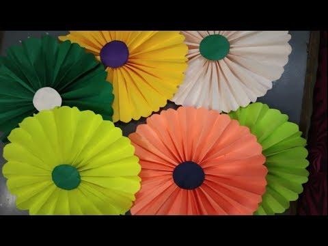 DIY;; Pepar fan flower kese banaye....SPRING FLOWER 🌺