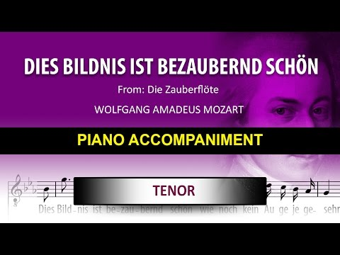 Dies Bildnis ist bezaubernd schön / Karaoke piano / Wolfgang Amadeus Mozart / Tenor