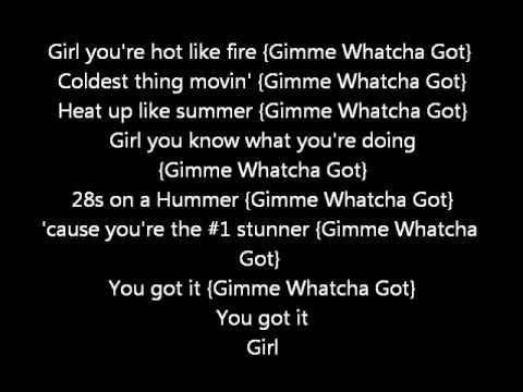 Chris Brown FT lil wayne - Gimme watcha got (Lyrics on screen) karaoke Exclusive