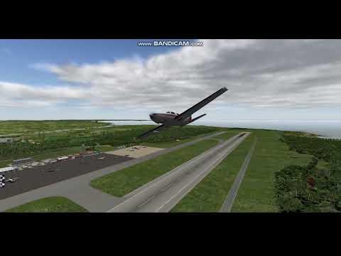 X-Plane10:Piper Malibu Mirage landing to  Aircraft carrier offshore Shimoji island