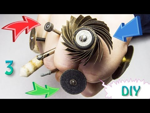 Let's Make 3 Useful Bits For A Drill / Dremel Rotary Tool