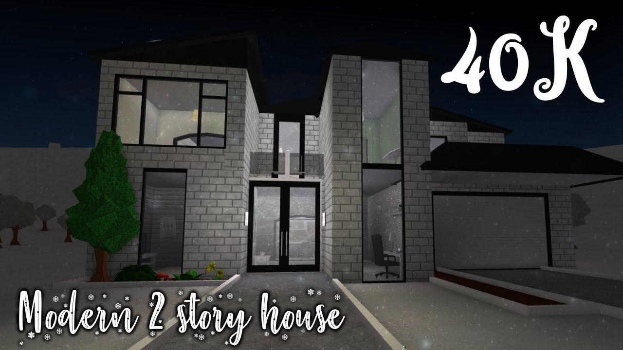 Bloxburg modern 2 story house 40k