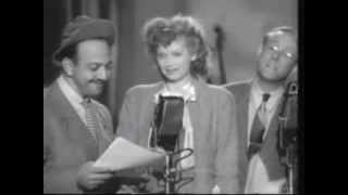 MEL BLANC.  Classic Sad Sack Routine w/ Lucille Ball.  Live Performance from 1944.