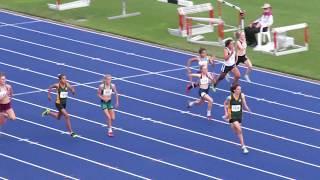 100m 13W Semi2 Hilal Durmaz 12.34 +0.7 Qld School Championships 2017 2017 Video