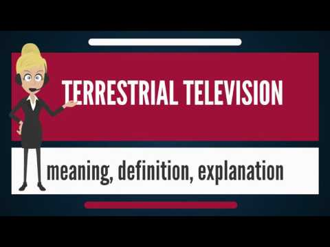 What is TERRESTRIAL TELEVISION? What does TERRESTRIAL TELEVISION mean?