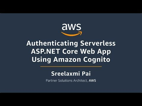 Authenticating Serverless ASP.NET Core Web APP Using Amazon Cognito