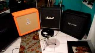 Guitar 4x12 Cab SHOOTOUT!! Mesa-Marshall-Orange-H&k (METAL Part 3)