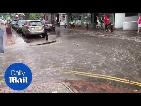Flash Floods Rush Through Tunbridge Wells, Kent