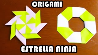 Ninja Star Origami / Estrella Ninja de Origami TUTORIAL!