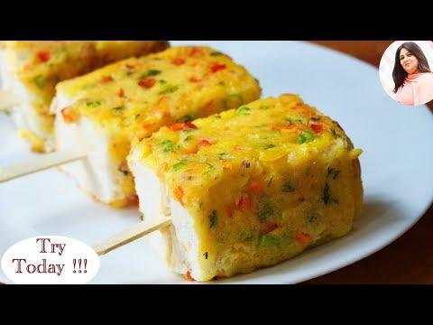 Bread Lollipops recipe,  Breakfast, Easy tea snack recipes/ Veg Party Starters appetisers dish ideas