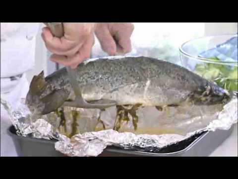 How To Cook A Whole Salmon - Tesco Food Club  Christmas 2009
