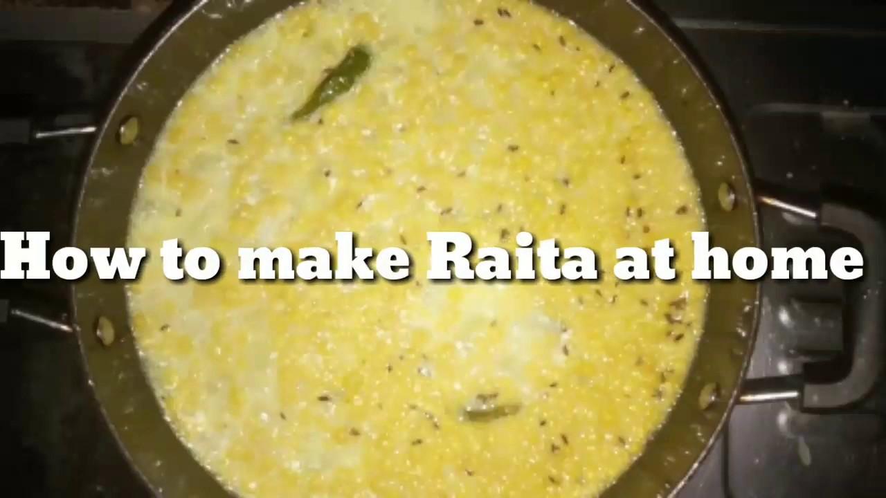 How to make Raita at home/घर पर रायता कैसे बनाये