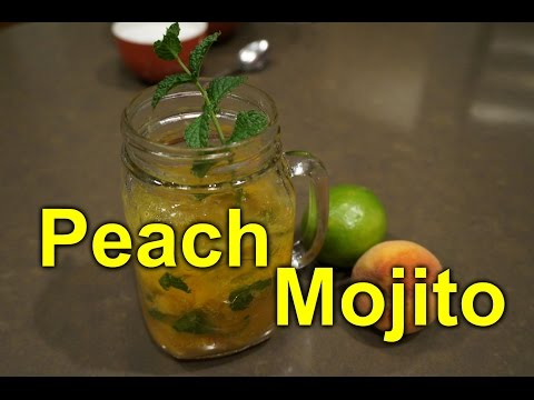 Peach Mojito - Great Summer Garden Drink