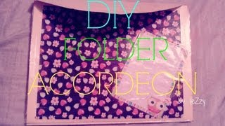 DIY. FOLDER ACORDEON P/REGRESO A CLASES (BACK TO SCHOOL)